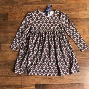 Matilda Jane Brown Floral Tulip Key Hole Dress 6